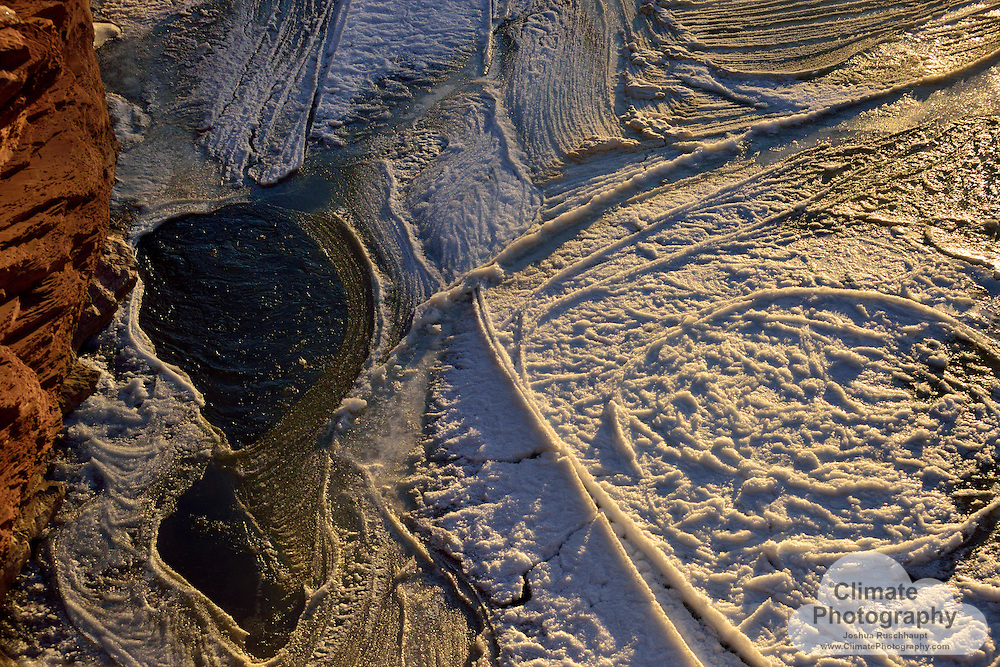 Rock, ice, water, light, Uravan, CO.