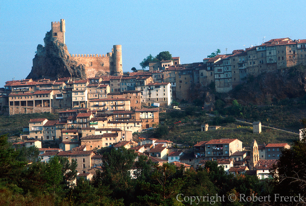 SPAIN, CASTILE and LEON Frias, medieval town and castle above the Ebro River headwaters, northeast of Burgos