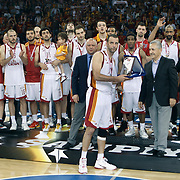 Galatasaray's players during their Turkish Basketball league Play Off Final Sixth leg match Galatasaray between Fenerbahce Ulker at the Abdi Ipekci Arena in Istanbul Turkey on Friday 17 June 2011. Photo by TURKPIX