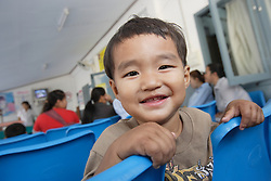 This 3 yr old boy,  called Boy, came to the hospital with his mom to check him because he has cough. Sayaboury Provincial Hospital, Sayaboury town. Lao PDR