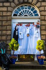 Halloween goes on despite Covid, Edinburgh, 28 October 2020
