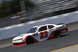 July 20, 2018 - Loudon, New Hampshire, United States of America - Johnny Sauter (23) takes to the track to practice for the Lakes Region 200 at New Hampshire Motor Speedway in Loudon, New Hampshire. (Credit Image: © Justin R. Noe Asp Inc/ASP via ZUMA Wire)
