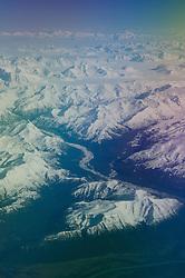 Chugach Mountains and Gulf of Alaska, South Central Alaska, US
