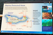 Interpretive sign at Scorpion Ranch, Santa Cruz Island, Channel Islands National Park, California USA