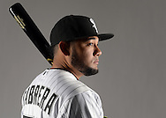 GLENDALE, ARIZONA - FEBRUARY 27:  Melky Cabrera #53 of the Chicago White Sox poses for a portrait during photo day on February 27, 2015 at Camelback Ranch in Glendale Arizona.  (Photo by Ron Vesely)    Subject:  Melky Cabrera