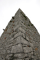 Castle ruin on Inis Oirr Island the Aran Islands County Galway Ireland