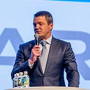 NLD/Amsterdam/20170412- Aankomst reuzenpanda's WU WEN en XING YA in Nederland, Marcel Boekhoorn, ......, Directeur KLM Cargo Marcel de Nooijer