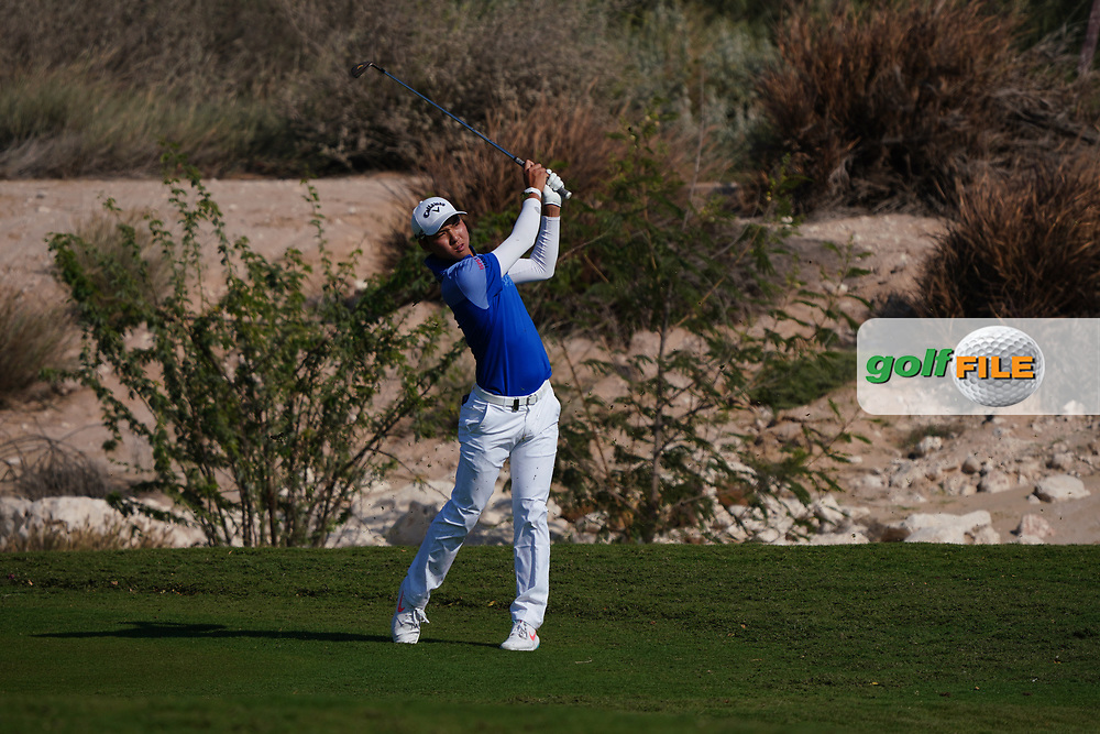 Min Woo Lee (AUS) on the 11th during Round 1 of the Commercial Bank Qatar Masters 2020 at the Education City Golf Club, Doha, Qatar . 05/03/2020<br /> Picture: Golffile   Thos Caffrey<br /> <br /> <br /> All photo usage must carry mandatory copyright credit (© Golffile   Thos Caffrey)