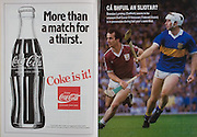 All Ireland Senior Hurling Championship Final, .04.09.1988. 09.04.1988, 4th September 1988,.4091988AISHCF,.Galway 1-15, Tipperary 0-14,.Galway v Tipperary, .coca cola, .
