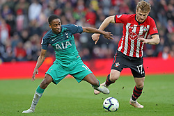 March 9, 2019 - Southampton, England, United Kingdom - Tottenham defender Kyle Walker-Peters is put under pressure by Southampton midfielder Stuart Armstrong during the Premier League match between Southampton and Tottenham Hotspur at St Mary's Stadium, Southampton on Saturday 9th March 2019. (Credit Image: © Mi News/NurPhoto via ZUMA Press)
