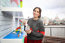EDITORIAL USE ONLY Stacey Solomon visits the LEGO Imaginarium, which is open for this weekend only on London's Southbank.