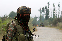 August 26, 2017 - Pulwama, Jammu and Kashmir, India - Policeman & two CRPF killed, five forces' personnel wounded after Fidayeen storm District Police Lines Pulwama on Saturday morning. (Credit Image: © Muneeb Ul Islam/Pacific Press via ZUMA Wire)