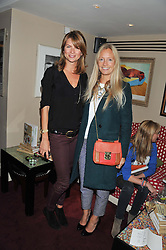 Left to right, GABRIELLA PEACOCK and MARTHA WARD at the launch of The Art of handmade Living by Willow Crossley held at George, 87-88 Mount Street, London on 11th October 2012.