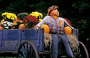 best-photo-decor-online-prints-to-buy-from-images-of-america, Scarecrow on a wagon near Stowe, Vermont, American Northeast by Randy Wells
