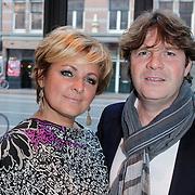 NLD/Amsterdam/20120420 - Show Joan Collins, Caroline Tensen en partner Peter Gallas