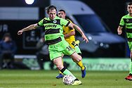 Forest Green Rovers Theo Archibald(18) passes the ball forward during the The FA Cup 1st round match between Oxford United and Forest Green Rovers at the Kassam Stadium, Oxford, England on 10 November 2018.