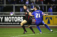 Photo: Paul Greenwood/Sportsbeat Images.<br />Carlisle United v Swindon Town. Coca Cola League 1. 04/12/2007.<br />Swindon;s Billy Paynter, (L) protects the ball from the challenge of Carlisle's Richard Keogh
