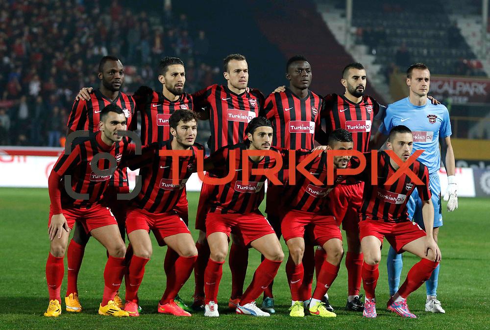 Gaziantepspor's players during their Turkish superleague soccer match Gaziantepspor between Besiktas at the Kamil Ocak stadium in Gaziantep Turkey on Sunday 14 December 2014. Photo by Kurtulus YILMAZ/TURKPIX