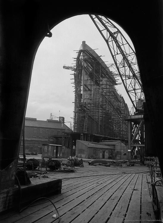 On the Docks, Cunard Lines, England, 1934