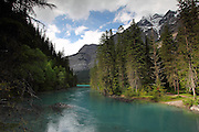 Arriving at Kinney Lake at Mount Robson, on the British Columbia side of the Canadian Rockies