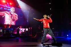 """© Licensed to London News Pictures. 30/01/2013. London, UK.   Trey Songz performing live at Hammersmith Apollo. Tremaine """"Trey"""" Aldon Neverson better known by his stage name Trey Songz, is an American singer-songwriter, record producer, and actor.  Photo credit : Richard Isaac/LNP"""