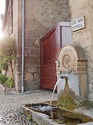 Water fountain on the streets of Beynac-Et-Cazenac in Dordogne, France