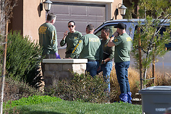 Sheriff's forensic teams search The Turpin's house in Perris, California. 17 Jan 2018 Pictured: Turpin Family House. Photo credit: MEGA TheMegaAgency.com +1 888 505 6342
