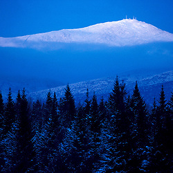 Mt. Washington. Appalachian Trail Dusk falls on Mt. Washington. Twin Mountain, NH