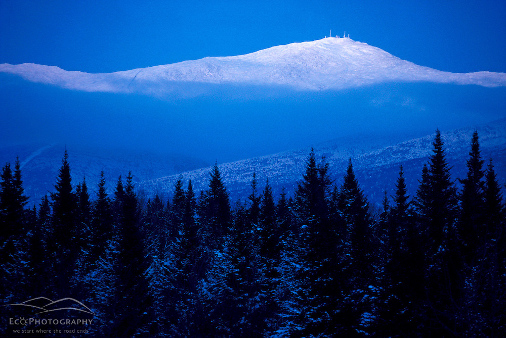 Mt. Washington. Appalachian Trail Dusk falls on Mt. Washington. Twin Mountain, NH