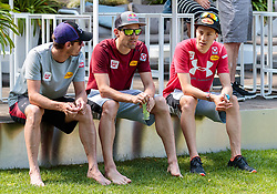 22.05.2017, Kalterer See, Kaltern, ITA, OESV, Nordische Kombinierer, Trainingskurs Kaltern, im Bild Lukas Klapfer, Philipp Orter, Mario Seidl // during a Trainingscamp of Austrian Nordic Combined Team at the Kalterer Lake, Kaltern, Italy on 2017/05/22. EXPA Pictures © 2017, PhotoCredit: EXPA/ JFK