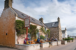 Exterior view of The Kimberley Inn in Findhorn, Moray, Scotland, UK