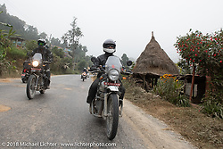 Sean Lichter (L) and Grant Peterson on day-9 of our Himalayan Heroes adventure riding from Pokhara to Nuwakot, Nepal. Wednesday, November 14, 2018. Photography ©2018 Michael Lichter.