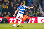 Queens Park Rangers defender Darnell Furlong (2) crossing the ball during The FA Cup 5th round match between Queens Park Rangers and Watford at the Loftus Road Stadium, London, England on 15 February 2019.