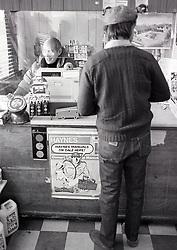 Edinstowe post office, Nottinghamshire UK 1984