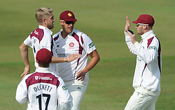 Rory Kleinveldt of Northamptonshire catches out Chris Dent of Gloucestershire bowled by Olly Stone of Northamptonshire - Photo mandatory by-line: Dougie Allward/JMP - Mobile: 07966 386802 - 08/07/2015 - SPORT - Cricket - Cheltenham - Cheltenham College - LV=County Championship 2
