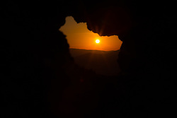 August 18, 2017 - Capalbio, Grosseto, Italy - The magical sunset atmosphere seen from the fort of Capalbio in the region of Tuscany, Italy  (Credit Image: © Matteo Nardone/Pacific Press via ZUMA Wire)