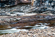 This nature image depicts Loyalsock Creek as it has cut a gorge through Worlds End State Park in Pennsylvania.