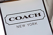 Sign for clothes shop Coach.