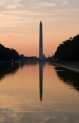 Washington DC; USA: The Reflecting Pool on the National Mall, with the Washington Monument in the background.Photo copyright Lee Foster Photo # 5-washdc82605