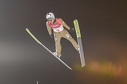 February 10, 2018 - Pyeonchang, Gangwon, South Korea - Davide Bresadolao f Italy at mens normal hill final at 2018 Pyeongchang winter olympics at Alpensia Ski Jumping Centre, Pyeongchang, South Korea on February 10, 2018. Ulrik Pedersen/Nurphoto  (Credit Image: © Ulrik Pedersen/NurPhoto via ZUMA Press)