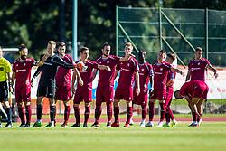 NK Triglav players during Football match between NK Triglav Kranj and NS Mura in 10th Round of Prva liga Telekom Slovenije 2018/19, on September 27, 2018 in Stadium Stanko Mlakar, Kranj, Slovenia. Photo by Ziga Zupan / Sportida