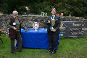 The Hardraw Scaur Brass Band Festival. Prize giving from organisers and sponsor alike. Organised by the Yorkshire and Humberside Brass Band Association, the competition is Britain's second oldest outdoor contest and takes place annually in Hardraw Scar in Wensleydale, North Yorkshire, England, UK. The area, a natural amphitheatre, attracts bands from all over the North of England and is a popular event amongst players and audiences alike.