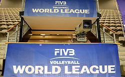 20150613 NED: World League Nederland - Finland, Almere<br /> De camera staat klaar voor de derde thuiswedstrijdd van Oranje