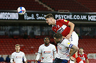 Middlesbrough defender Dael Fry (6) heads towards goal during the EFL Sky Bet Championship match between Middlesbrough and Luton Town at the Riverside Stadium, Middlesbrough, England on 16 December 2020.
