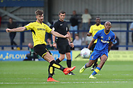 AFC Wimbledon Jimmy Abdou (8) closing down in midfield during the Pre-Season Friendly match between AFC Wimbledon and Burton Albion at the Cherry Red Records Stadium, Kingston, England on 21 July 2017. Photo by Matthew Redman.