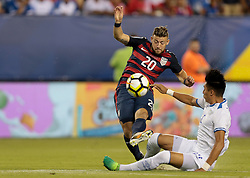 July 19, 2017 - Philadelphia, PA, USA - Philadelphia, PA - Wednesday July 19, 2017: Paul Arriola during a 2017 Gold Cup match between the men's national teams of the United States (USA) and El Salvador (SLV) at Lincoln Financial Field. (Credit Image: © John Dorton/ISIPhotos via ZUMA Wire)