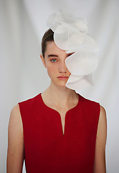 A model on the catwalk during the Delpozo London Fashion Week SS19 show held at RIBA, London.