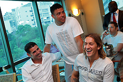 O jogadore Ronaldo Nazario durante encontro no Hotel Sheraton Porto Alegre antes do Jogo Contra a Pobreza. FOTO: Marcos Nagelstein/Preview.com/PNUD