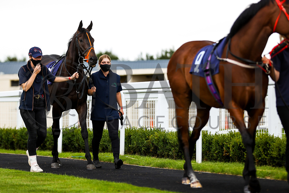 Bezzas Lad (T: Tony Carroll) ahead of the 12:00 Visit attheraces.com Handicap - Rogan/JMP - 14/07/2020 - HORSE RACING - Bath Racecourse - Bath, England.
