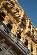 Low angle view of colonial architecture building, Havana, Cuba